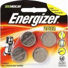 Energizer CR2032 batteri - 4stk