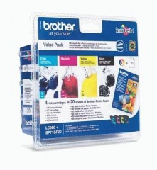 Blekkpatroner BROTHER LC980 VALUEPACK