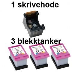 Blekkpatroner NH-R00302XL FARGE 3-Pack