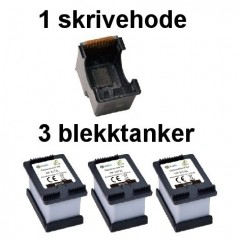 Blekkpatroner NH-R00302XL SVART 3-Pack