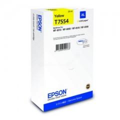 Blekkpatron EPSON T7554 XL Gul