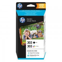 Blekkpatroner HP 303 Photo Value Pack